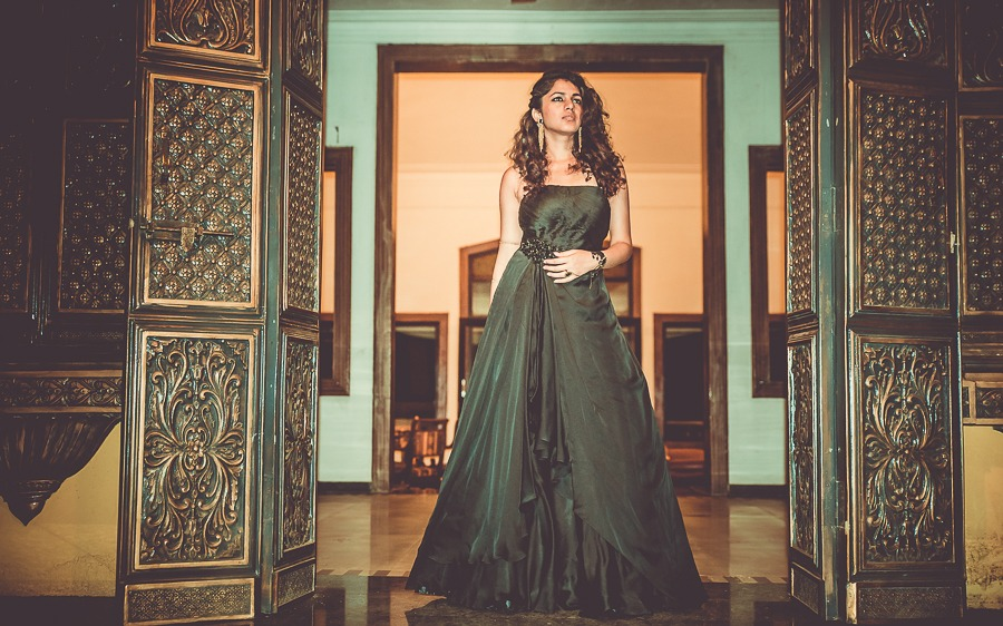 Satyabhama Black ballroom gown inspired mythic fashion pinkpeppercorn sonal agrawal