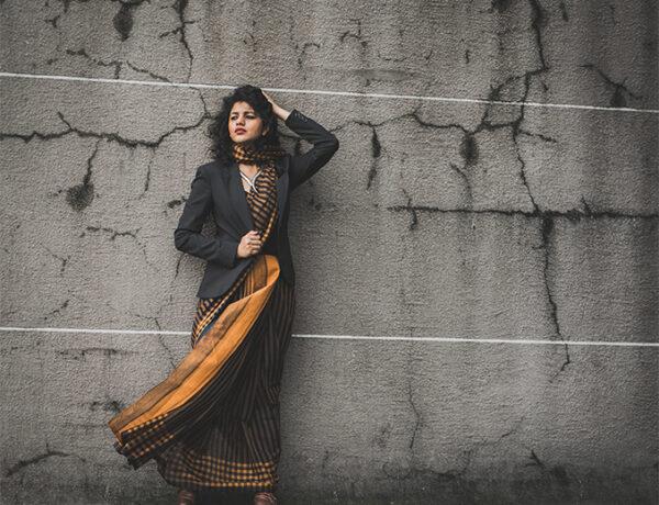 saree with blazer 1