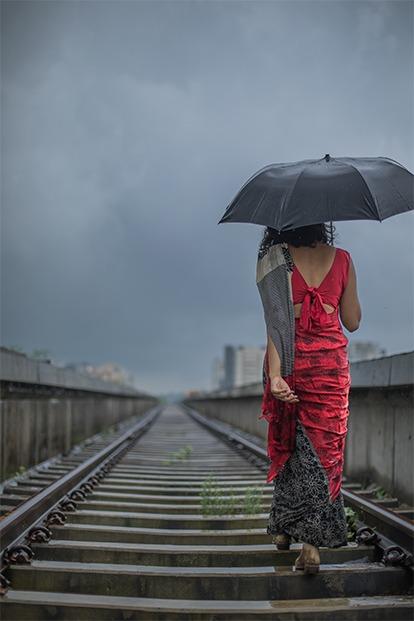 rain saree train tracks last rain