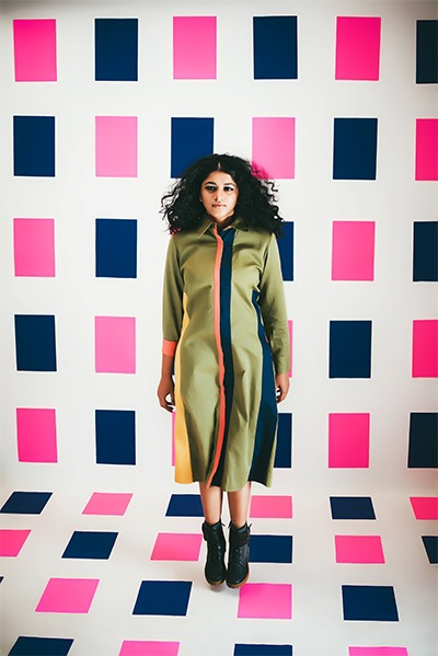 colour blocking fashion blogger in mumbai