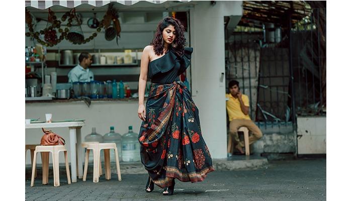 street style mumbai raju chinese saree style
