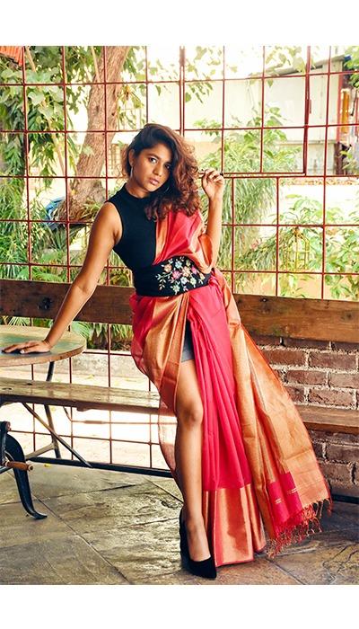 purvi - sonal agrawal saree style handloom sustainable fashion